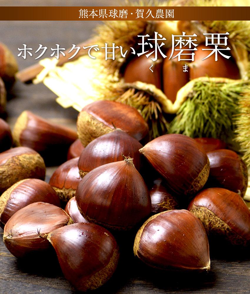 熊本県球磨・賀久農園のホクホクで甘い「球磨栗」