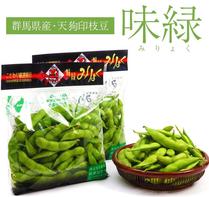 群馬県産 天狗印枝豆・味緑(みりょく)